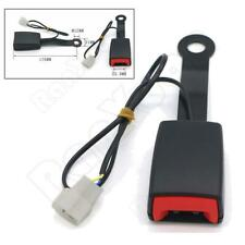 Universal Auto Car Front Seat Belt Buckle Socket Plug Connector w/ Warning Cable