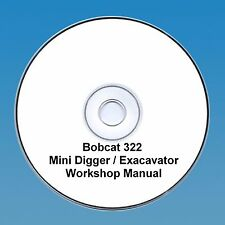 Bobcat 322 Mini Escavatrice Workshop Manuale