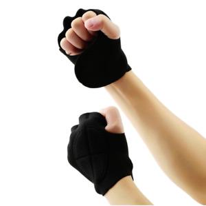 Guanti Da Palestra Sollevamento Pesi Bodybuilding Fitness Allenamento Tessuto tr