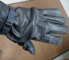 Italian Army Leather Gloves with Wool Liner