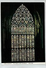 A1216law UK York Minster Great East Window postcard