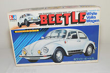 MITSUWA JAPAN KIT MW-500 251-W VW VOLKSWAGEN BEETLE KAFER WHITE MINT BOXED.