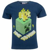 Boys Kids Children Minecraft Cotton Gamer TShirt t-shirt  6 7 8 9 10 11 12 years