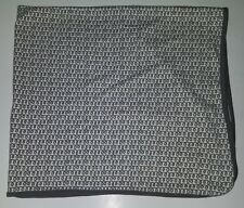 Petunia Pickle Bottom Gray White Spiral Receiving Blanket Lovey SPOT AS IS
