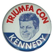 1960 John F Kennedy Triumph With Kennedy Hispanic Vote Button