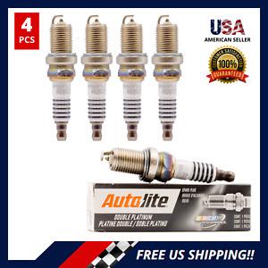 4 PCS Double Platinum Spark Plugs for Chevy Corvette Mercedes Saturn APP3926