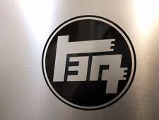"2 pack Toyota TEQ Logo Vinyl Decal Sticker Gloss Black 3"" 1/2 x 3"" 1/2"