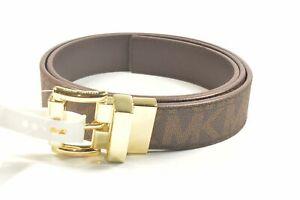 Michael Kors 553756C Brown Medium Reversible Women's Belt