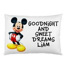 MICKEY MOUSE Personalized childrens kids bed pillow case