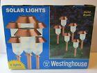 NIB Set of Six Solid Brass Westinghouse Solar Lights Antique Copper Finish