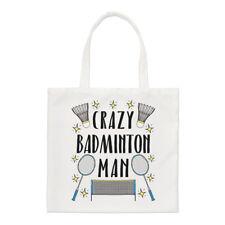 Crazy Badminton Man Stars Regular Tote Bag Funny Sport