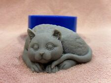 """Cat"" silicone mold for soap and candles making mould molds"