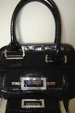 154a3ab24fb7 NWT GUESS BLACK HARVEST SATCHEL PURSE TOTE WALLET SET