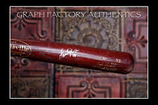 **GFA Toronto Blue Jays *MARK DEROSA* Signed GU Cracked Bat COA**