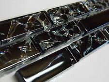 Glasbordüre Glasmosaik Mosaikbordüren Mosaikbordüre SS193 schwarz Bordüre