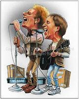 Simon & Garfunkel cartoon caricature picture poster art print by Don Howard