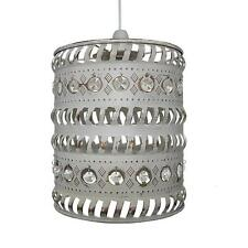 Moroccan Pendant Shade - Clear Jewels & French Gold by Loxton Lighting
