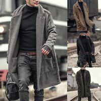 Men Long Thicken Parka Overcoat Lot Faux Fur Jacket Warm Coat Winter Outwear Hot