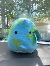 "ROMAN Earth 8"" Squishmallow NWT Plush World Globe 2021 Collectible"
