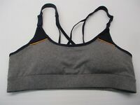 new CHAMPION C9 Women's Size S Compression Heather Gray/Navy Padded Sports Bra