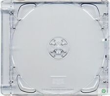 100 x CD Super Jewel Box 10.4mm Double 2 Disc Super Clear Tray Replacement Case