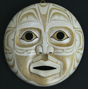 FIRST NATION STYLE TOTEMIC MOON MASK ~ CANADIAN ABORIGINAL HAIDA STYLE