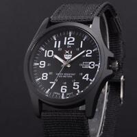 Montre Militaire Quartz Homme Sport Bracelet Tissu Date Automatique