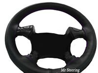 FITS FORD MUSTANG 94-04 BLACK GENUINE LEATHER STEERING WHEEL COVER PURPLE STITCH