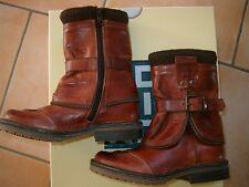 (Z61) MOMINO Boys Schuhe Glattleder Boots Leder Stiefel + Schnalle & Logo gr.28