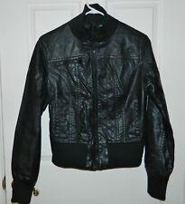 juniors black bomber leather jacket | eBay