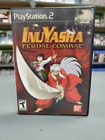 Inuyasha Feudal Combat w/ Registration Card Playstation 2 PS2 Complete -- S2G --