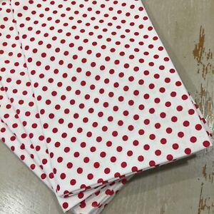 Vintage Style Napkins, Serviettes, Christmas, Cotton, Retro, White & Red Spots