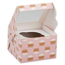 2 X Magdalena Cajas cada uno tiene 1 Pastel Muffin Caja de tapa transparente