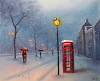 100%Hand-painted Art Oil Painting London Cityscape 16*20inch  Decoration canvas