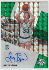 2019-20 Panini Mosaic Celtics Larry Bird Autographs Silver Mosaic Prizm Auto