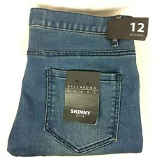 Billabong Womens Blue Jeans Skinny Sticks Size 12 W32  L30 New With Tags RRP89