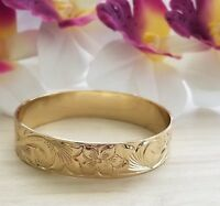 15mm Gold Hawaiian Heirloom Bangle Bracelet
