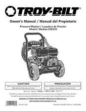Troy-Bilt  Pressure Washer 3700 psi Model # 020210
