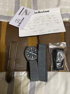 Swiss Watch Company (SWC) Bunker blue/grey 41mm titanium watch