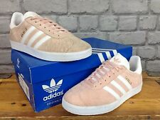 ADIDAS UK 7 EU 40 2/3 VAPOUR PINK PEACH GAZELLE OG TRAINERS MENS LADIES
