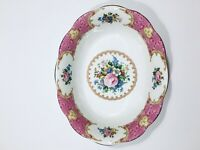 Royal Albert Lady Carlyle bone china oval vegetable bowl 9""