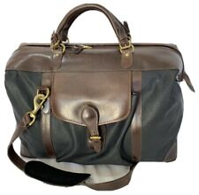 MULHOLLAND BROTHERS Shorthorn Endurance Black Canvas and Brown Leather Trim