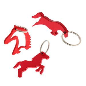 3 Stil Legierung Pferd Einfache Flaschenöffner Schlüsselanhänger Keychain