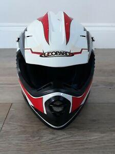 Leopard LEO-X16 Kids Motocross Helmet Quad Bike Red White Size Small ECER22-05