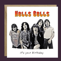 ITS ONLY ROCK AND ROLL PERSONALISED INSIDE OUTSIDE HANDMADE CARDS BIRTHDAY OPEN