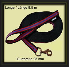+++ Longierleine (Longe) 8,5 m / 25 mm Gurtband +++ 29 Farben zur Auswahl +++