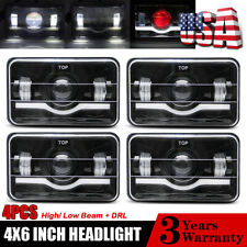 "Red Demon 4""x6"" LED Headlights Semi Sealed Headlamp Conversion Halogen HID Xenon"