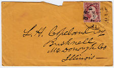 "#26A-3 Cents 1857, 5L11i, retouched ""CHICAGO MAR 21 1858 ILL"" to Bushnell ILL"