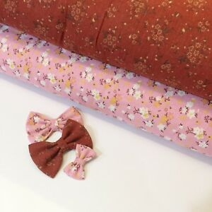 NEW Organic Floral Linen Cotton Fabric Linen Cotton By The Metre
