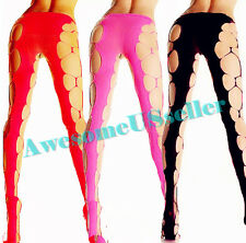Black Stockings Cutout Diamond Stretch Net Costume Tights Pantyhose Fishnet OS